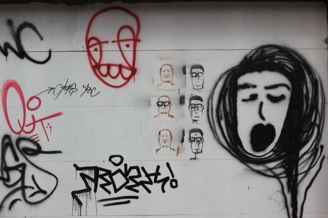 grafitti faces