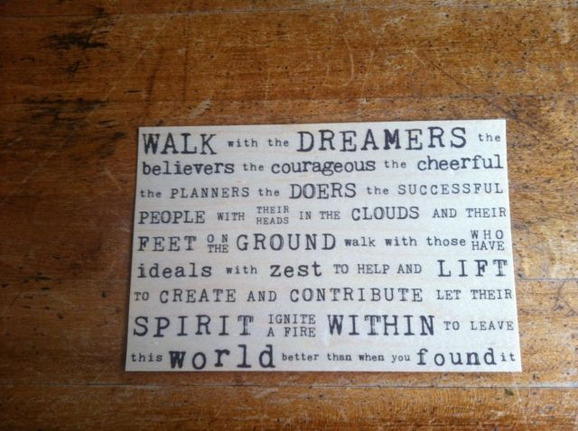 dreamers postcard