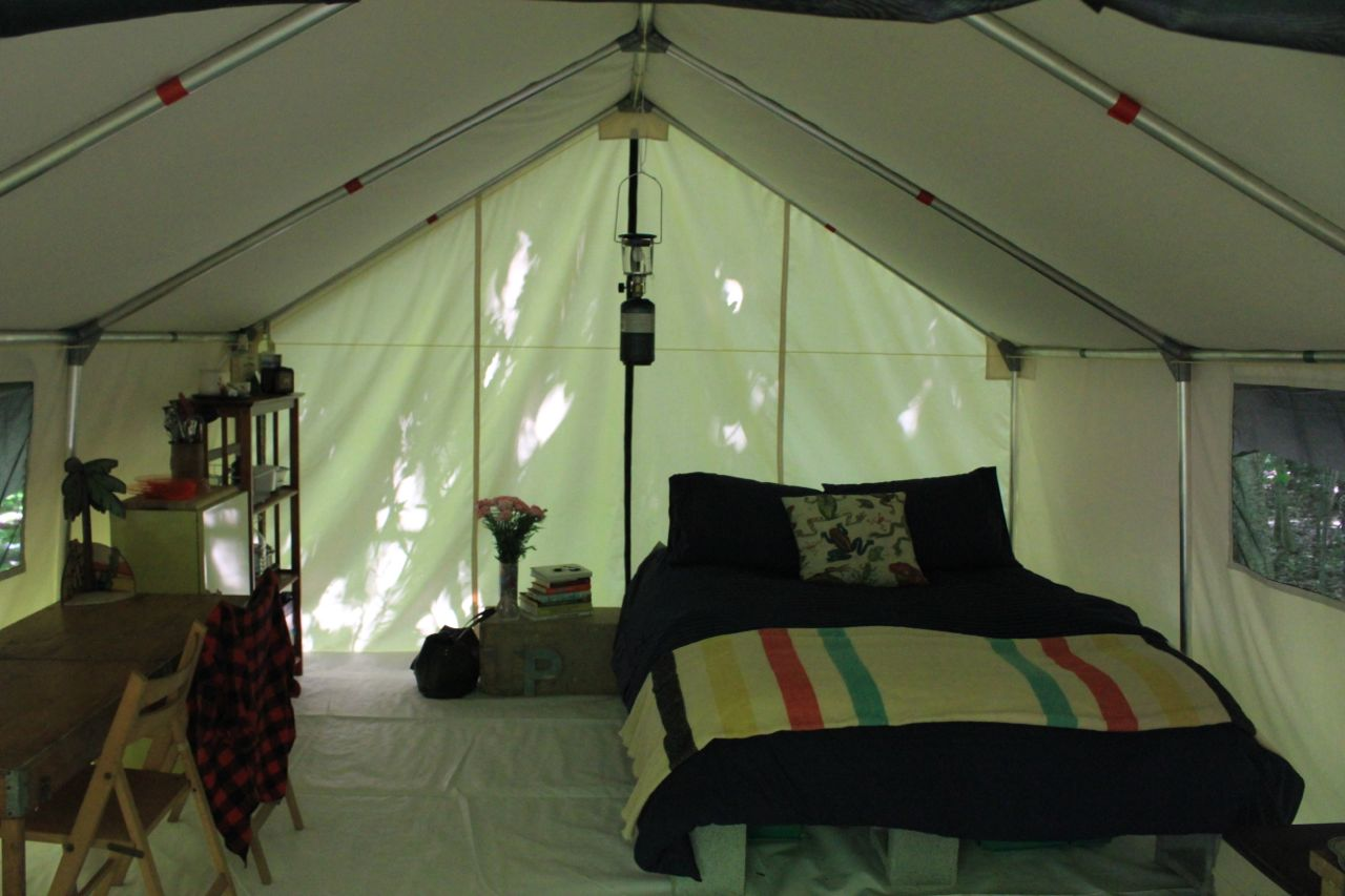View from the front door & Deluxe Wall Tents | UrbanPrairie