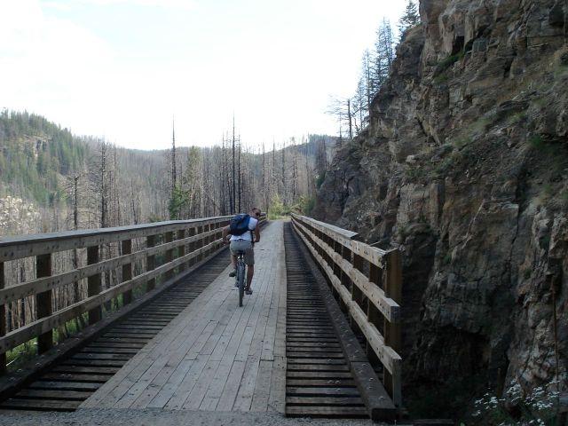 ryan on BC bike trails
